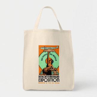 1936 Detroit + Michigan Expo Poster Tote Bag