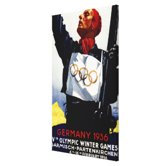 1936 Olympic Winter Games Advertisement Poster Canvas Print