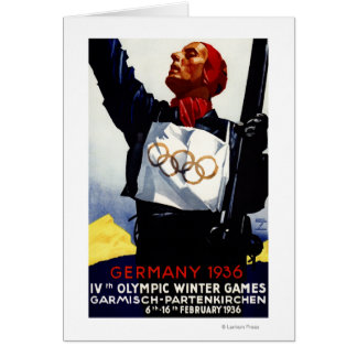 1936 Olympic Winter Games Advertisement Poster Greeting Card