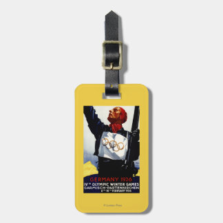 1936 Olympic Winter Games Advertisement Poster Luggage Tag