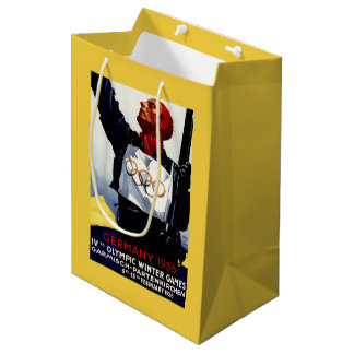 1936 Olympic Winter Games Advertisement Poster Medium Gift Bag