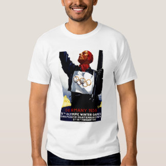 1936 Olympic Winter Games Advertisement Poster T-shirt