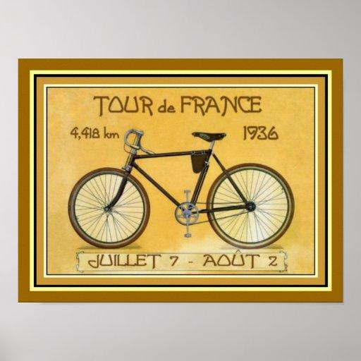 1936 Tour de France Poster 12 x 16