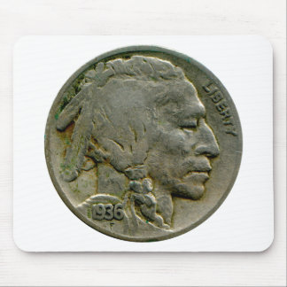 1936 US 'Buffalo' nickel heads mousepad
