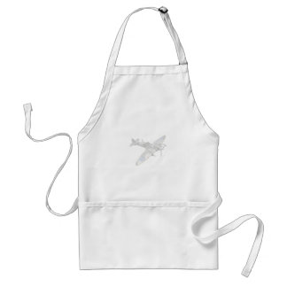 1936 WWII Spitfire Fighter Aircraft Apron