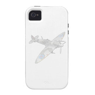 1936 WWII Spitfire Fighter Aircraft iPhone 4 Covers