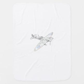 1936 WWII Spitfire Fighter Aircraft-color Baby Blanket