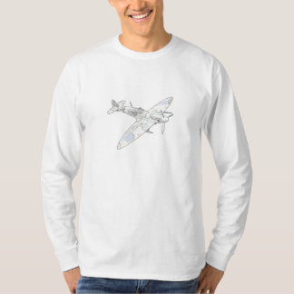 1936 WWII Spitfire Fighter Aircraft-color T-Shirt
