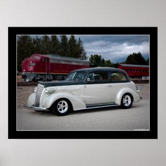 1937 Chevy Sedan Hot Rod Poster