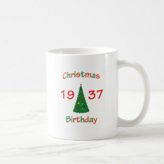1937 Christmas Birthday Classic White Coffee Mug