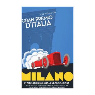 1937 Italian Grand Prix Canvas Art Print