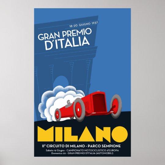 1937 Italian Grand Prix Poster