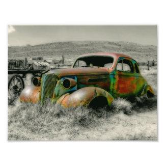 1937 Master Coupe wreck Art Photo
