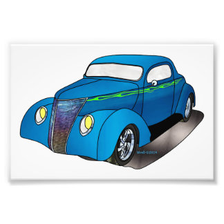 1937 Minotti Ford Coupe - Blue Photograph
