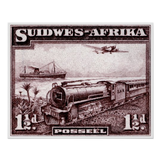 1937 South West Africa Poster