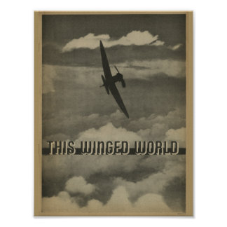 1938 Aviation Magazine Airplane Art Print