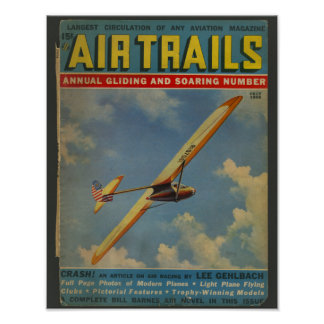 1938 Aviation Magazine Airplane Cover Art Print