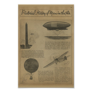 1938 Aviation Magazine Airplane History Art Print