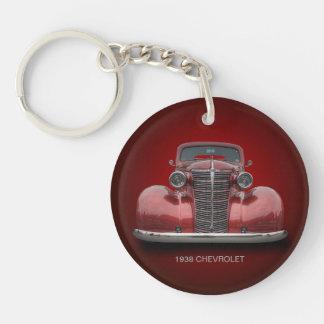 1938 CHEVROLET Single-Sided ROUND ACRYLIC KEY RING