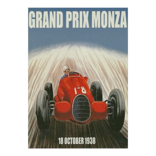 1938 Grand Prix Monza Italy Poster