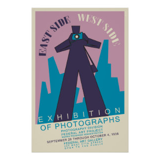 1938 vintage photography exhibition poster remake