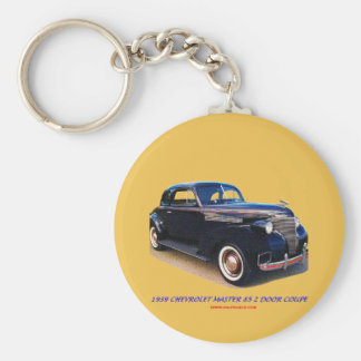1939 CHEVROLET MASTER 85 2 DOOR COUPE BASIC ROUND BUTTON KEY RING