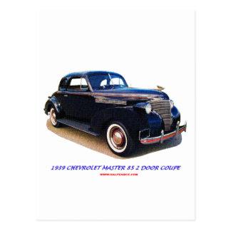 1939 CHEVROLET MASTER 85 2 DOOR COUPE POSTCARD