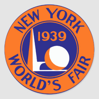 1939 New York World's Fair Classic Round Sticker