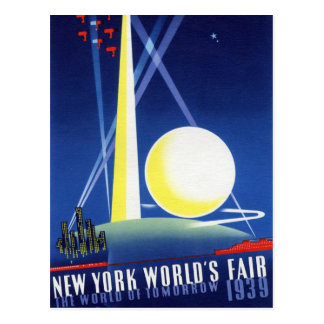 "1939 NYWF - ""World of Tomorrow"" Postcard"