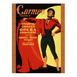 1939 Opera: Carmen Postcard