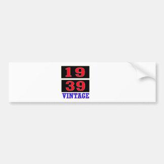 1939 Vintage Car Bumper Sticker