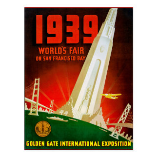 1939 World Fair San Francisco Postcard