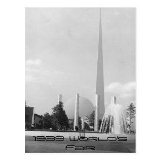 1939 Worlds Fair Card Postcard