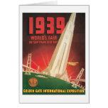 1939 World's Fair San Francisco Bay Greeting Cards
