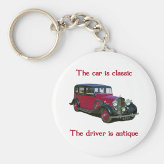 1939 Wraith Limo Classic Basic Round Button Key Ring