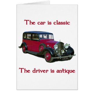 1939 Wraith Limo Classic Note Card