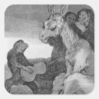 193-0082138 Bravo!, a caricature of musical evenin Square Sticker