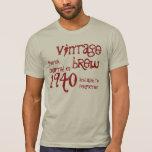 1940 Birthday Year 75th Vintage Brew Gift Tshirt