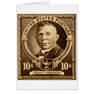 1940 Booker T. Washington Stamp Greeting Card