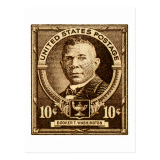 1940 Booker T. Washington Stamp Postcard