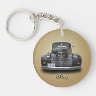 1940 CHEVROLET 1 Single-Sided ROUND ACRYLIC KEY RING
