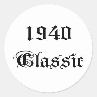 1940 Classic Classic Round Sticker