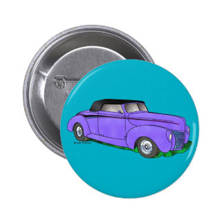1940 Ford Standard Convertible 6 Cm Round Badge