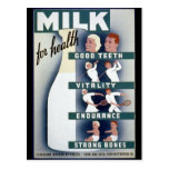 1940 Milk Poster Post Cards