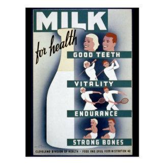 1940 Milk Poster Postcard