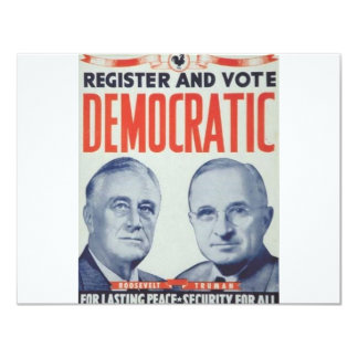 1940 Roosevelt - Truman 11 Cm X 14 Cm Invitation Card