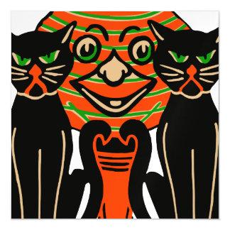 1940 Vintage Halloween Black Cats Magnetic Invitations