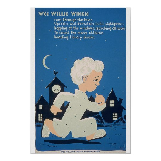 1940 WPA WEE WILLIE WINKIE Art Project Poster