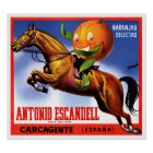 1940's ANTONIO ESCANDELL ORANGES LABEL POSTER