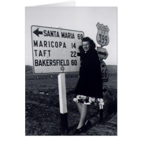 1940s California Woman Card